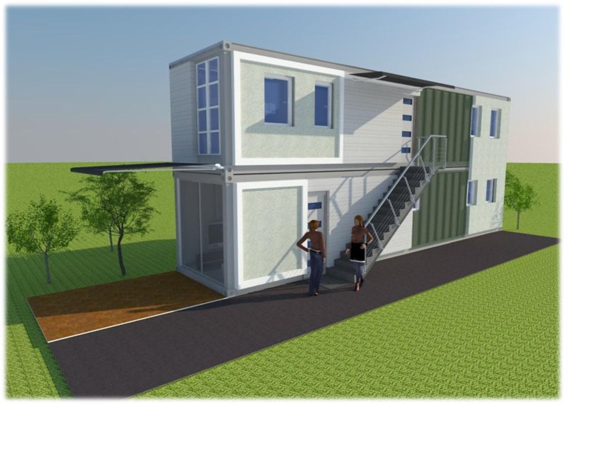 Dise o 102 casa dos niveles - Casas contenedores espana ...